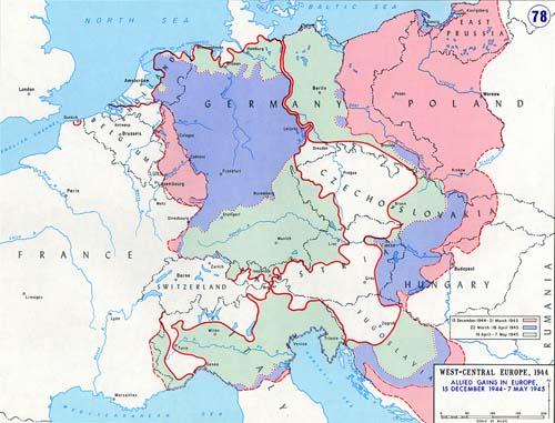 carte europe 8 mai 1945